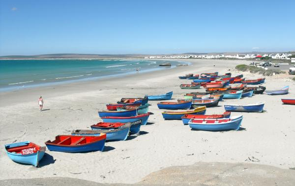 Fishing boats on the Paternoster beach